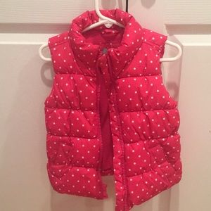 Toddler girls puffer vest Baby Gap